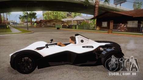 BAC Mono 2011 para GTA San Andreas esquerda vista
