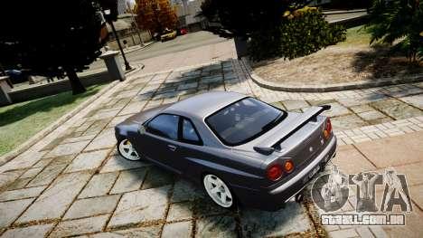 Nissan Skyline GTR-34 v1.0 para GTA 4 esquerda vista