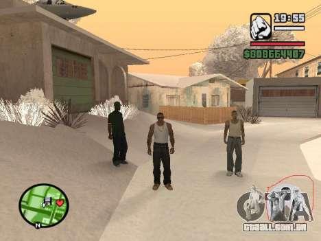 Alternar entre personagens como em GTA V para GTA San Andreas por diante tela