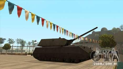 Panzerkampfwagen VIII Maus para GTA San Andreas segunda tela