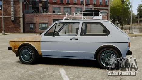 Volkswagen Golf MK1 GTI Rat Style para GTA 4 esquerda vista