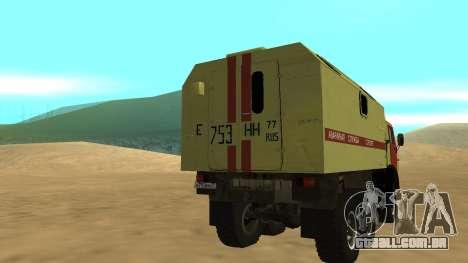 Luzes de perigo KAMAZ-4310 para GTA San Andreas traseira esquerda vista