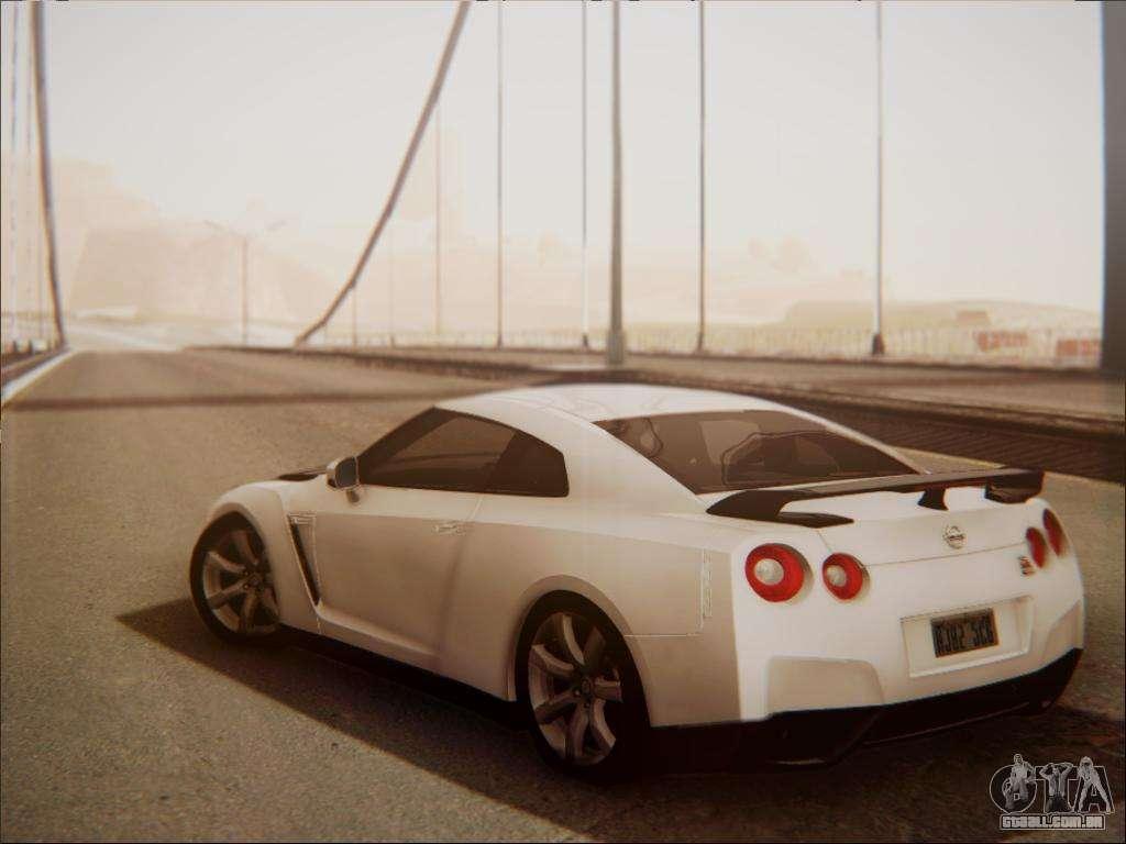 Nissan GT R R35 Spec V 2010 Para GTA San Andreas Vista Direita
