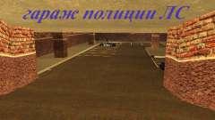 Nova garagem interior polícia HP