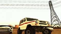 UAZ 469 ambulância para GTA San Andreas