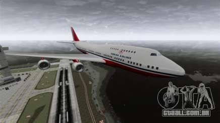 O avião da Turkish Airlines para GTA 4