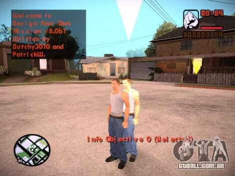 Novo menu e uma nova fonte para GTA San Andreas oitavo tela