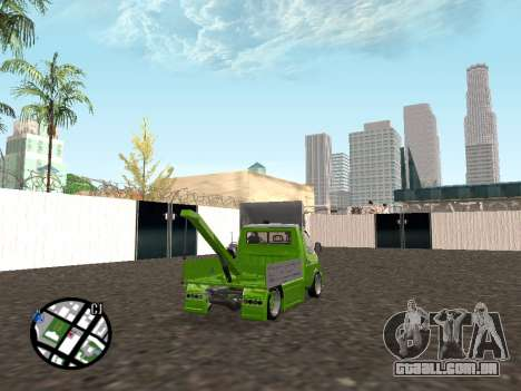 Gazela do reboque para GTA San Andreas traseira esquerda vista