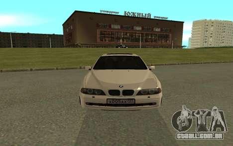 BMW 540i para GTA San Andreas vista direita