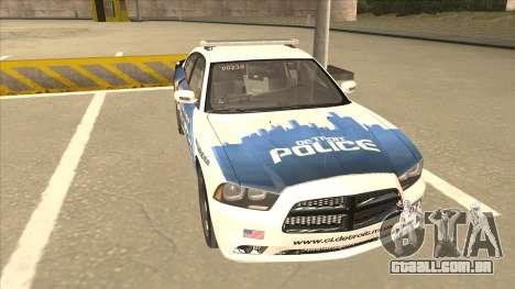Dodge Charger Detroit Police 2013 para GTA San Andreas esquerda vista