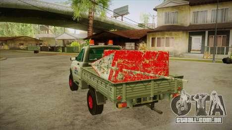 Água de reparação UAZ 2360 SA para GTA San Andreas traseira esquerda vista
