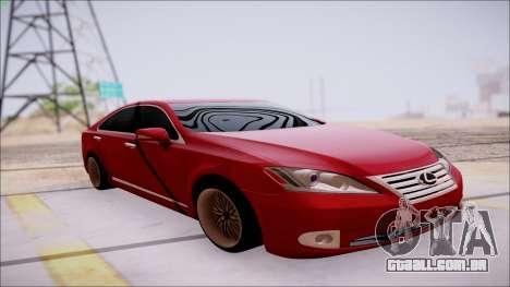 Lexus ES350 2010 para GTA San Andreas vista interior