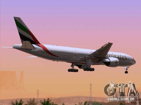 Boeing 777-21HLR Emirates para o motor de GTA San Andreas