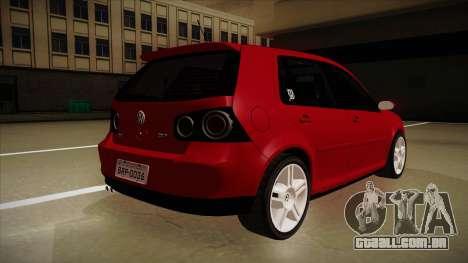 VW Golf GTI 2008 para GTA San Andreas vista direita