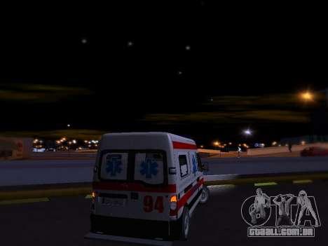 Renault Master ambulância sérvio para GTA San Andreas vista interior