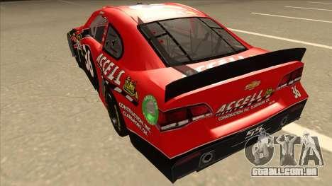 Chevrolet SS NASCAR No. 36 Accell para GTA San Andreas vista traseira
