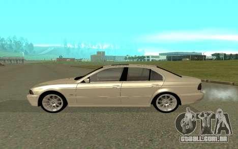 BMW 540i para GTA San Andreas esquerda vista