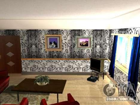 Novo edifício de 2 andares interior CJ para GTA San Andreas terceira tela