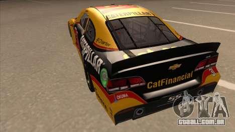 Chevrolet SS NASCAR No. 31 Caterpillar para GTA San Andreas vista traseira