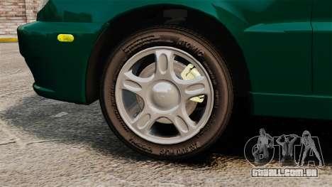 Daewoo Lanos 1997 Cabriolet Concept v2 para GTA 4 vista de volta