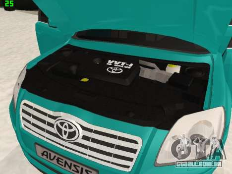 Toyota Avensis 2.0 16v VVT-i D4 Executive para GTA San Andreas vista traseira