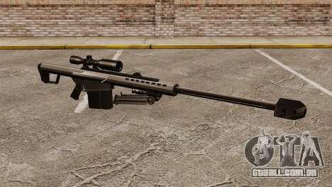 O Barrett M82 sniper rifle v1 para GTA 4