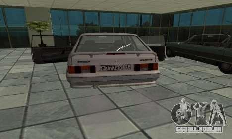 VAZ 2113 para GTA San Andreas traseira esquerda vista