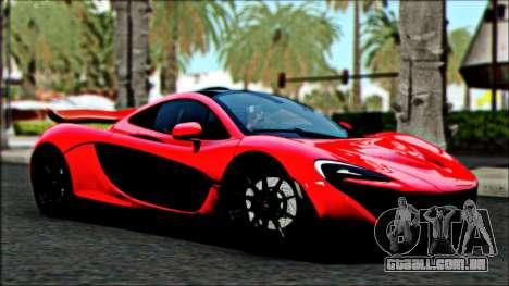 McLaren P1 2014 para GTA San Andreas vista traseira