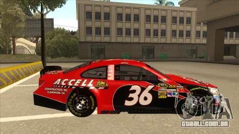 Chevrolet SS NASCAR No. 36 Accell para GTA San Andreas traseira esquerda vista