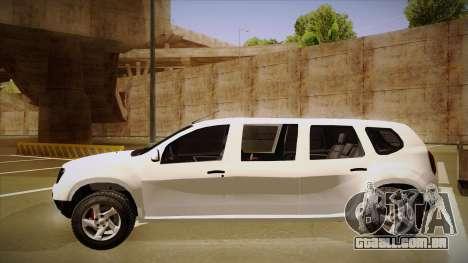 Dacia Duster Limuzina para GTA San Andreas traseira esquerda vista