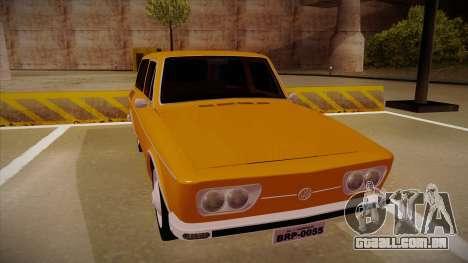 VW Variant 1972 para GTA San Andreas esquerda vista