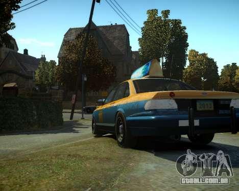 GTA V Taxi para GTA 4 traseira esquerda vista