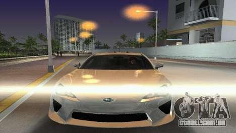 Subaru BRZ Type 2 para GTA Vice City vista traseira