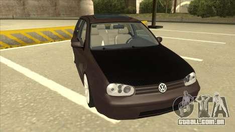 VW Golf 4 Tuned para GTA San Andreas esquerda vista