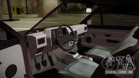 Volkswagen Gol para GTA San Andreas vista traseira