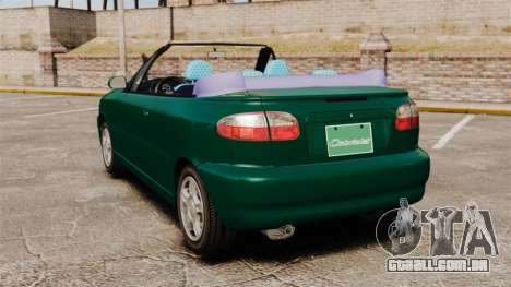 Daewoo Lanos 1997 Cabriolet Concept v2 para GTA 4 traseira esquerda vista