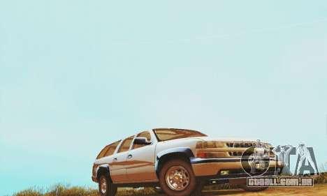Chevrolet Suburban SAPD FBI para GTA San Andreas esquerda vista