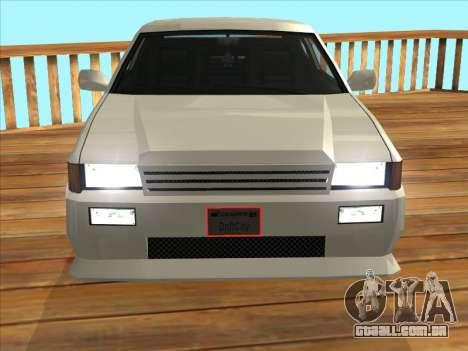Blista Compact para GTA San Andreas traseira esquerda vista