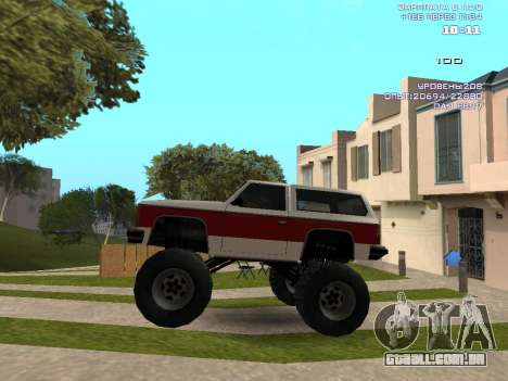 Rancher Monster para GTA San Andreas esquerda vista