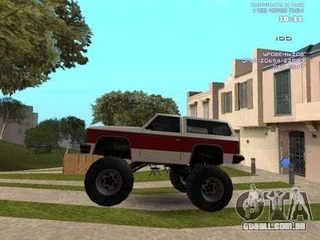 Rancher Monster para GTA San Andreas esquerda vista
