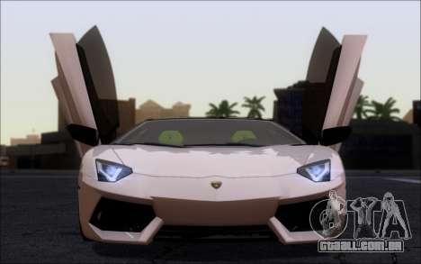 Lamborghini Aventador LP760-2 EU Plate para GTA San Andreas traseira esquerda vista