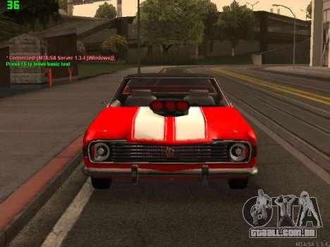 GÁS El Camino SS para GTA San Andreas vista traseira