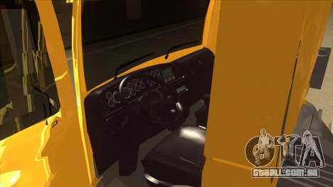Volkswagen Constellation 13.180 para GTA San Andreas vista interior