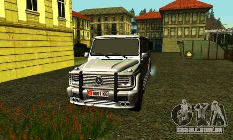 Mercedes-Benz G500 Limo para GTA San Andreas esquerda vista