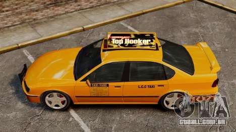 Taxi2 com novos discos para GTA 4 traseira esquerda vista