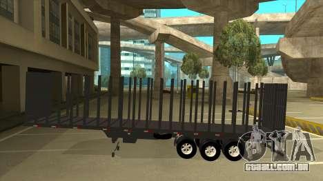 Semi-reboque para Mercedes-Benz LS 2638 para GTA San Andreas esquerda vista