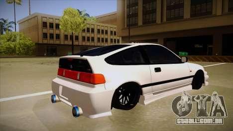 Honda CRX JDM Style para GTA San Andreas vista direita