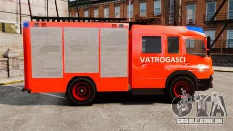 Mercedes-Benz Atego Koprivnica Fire Dept. [ELS] para GTA 4 esquerda vista