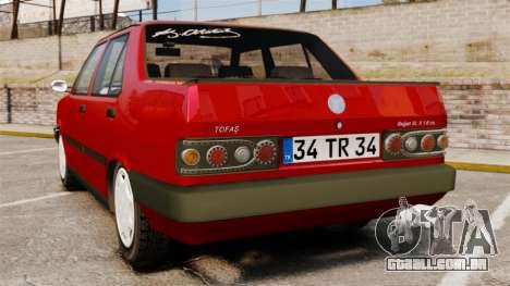 Tofas Dogan SL-X para GTA 4 traseira esquerda vista