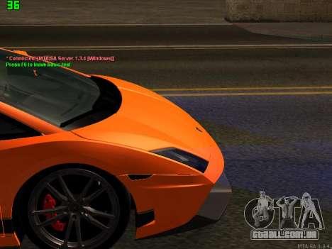 Lamborghini Gallardo LP560-4 SL UGR Altecho para GTA San Andreas vista interior